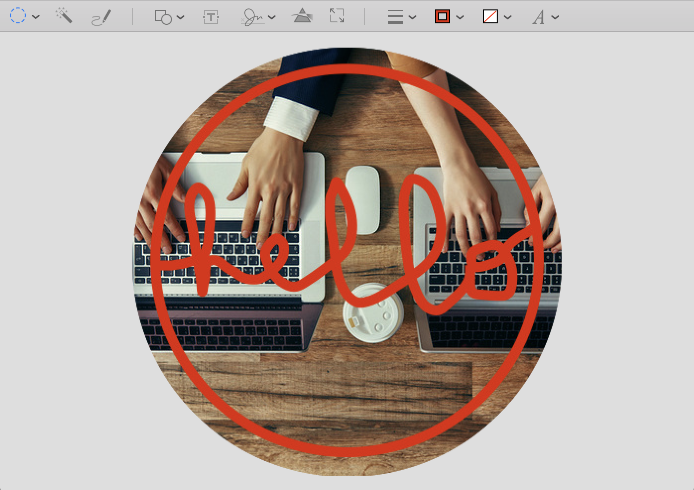 circle logo in preview