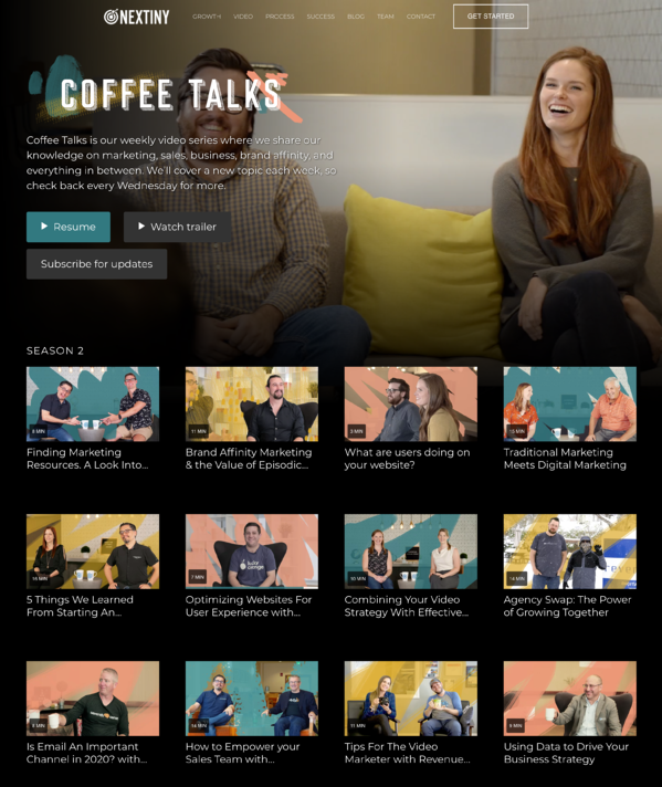 Coffee Talks   Inbound Marketing   Sales Video Series