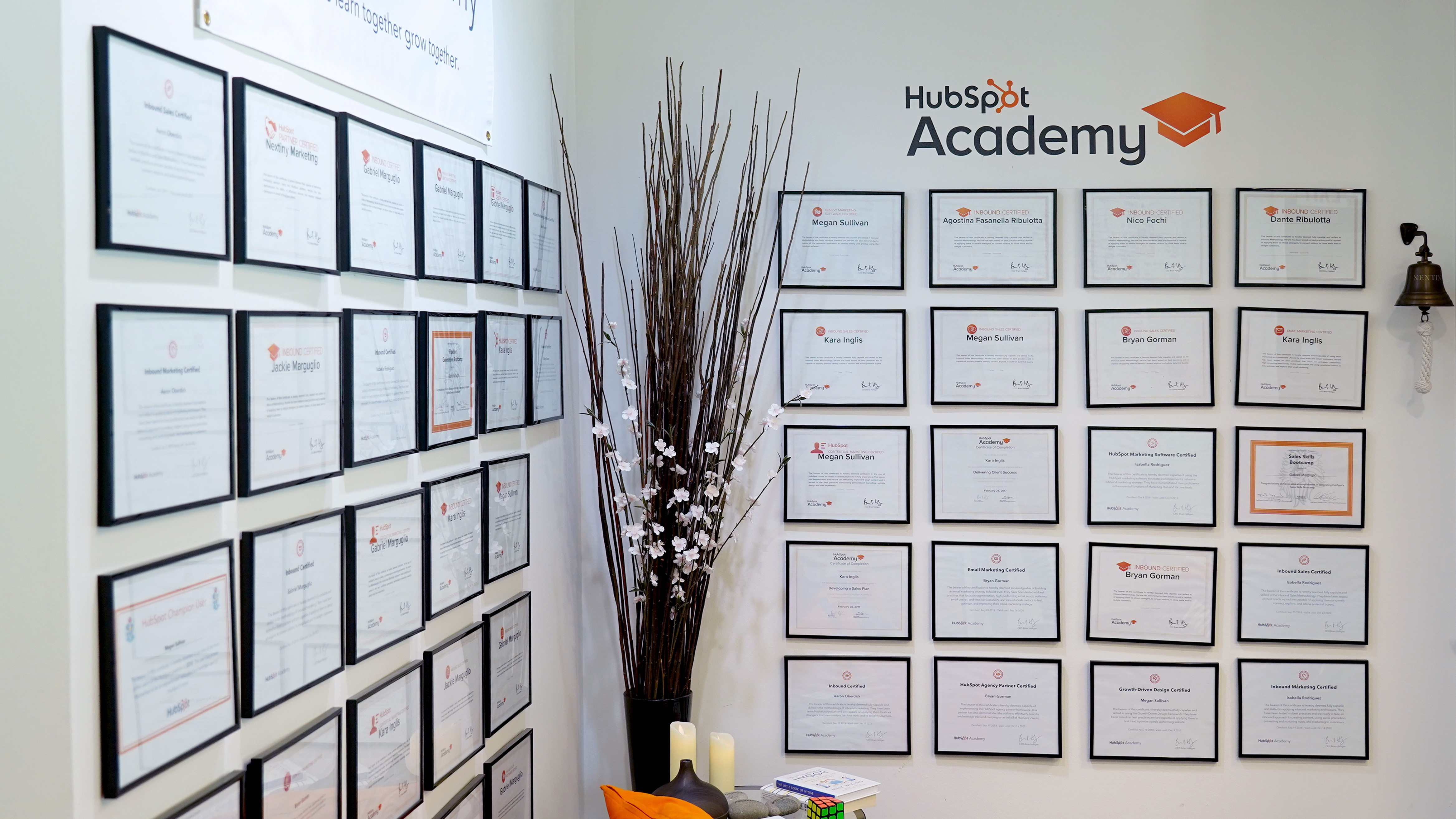 HubSpot Academy Certifications Wall