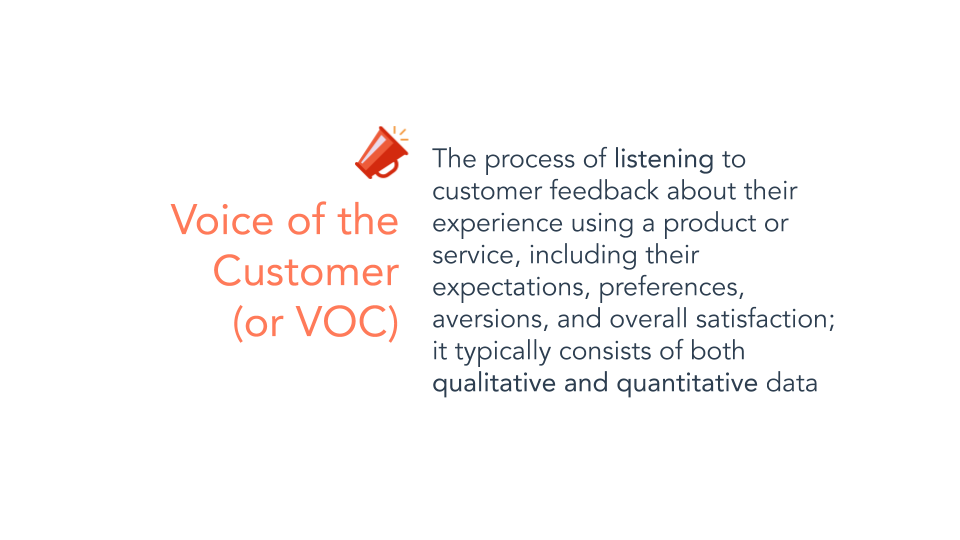 Voice of the customer optimization definition