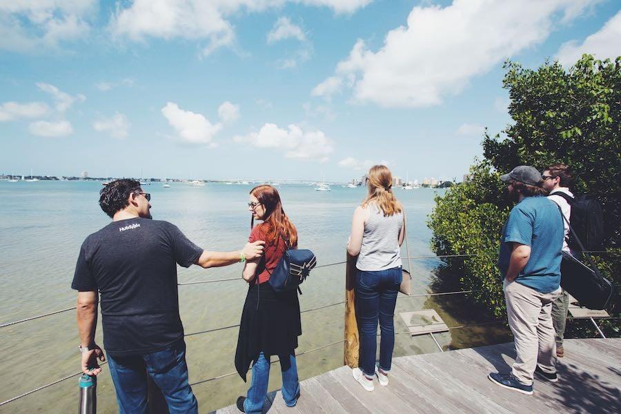 Nextiny team observing the Sarasota Bay