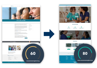VNA Hospital Website Design