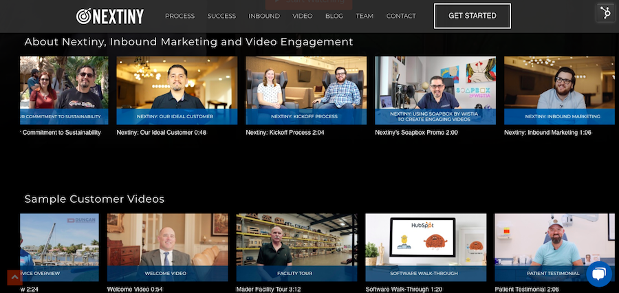 nextiny video gallery from channels by wistia
