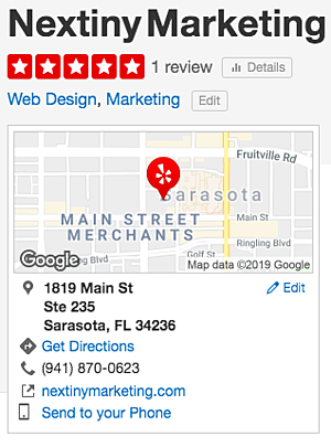 Yelp citation example