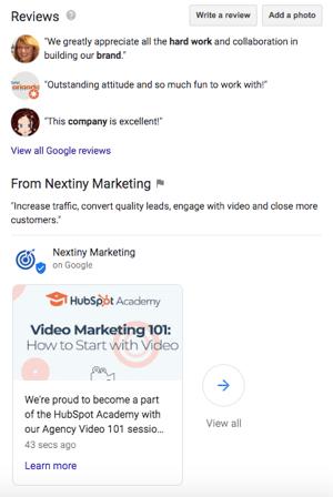 google post example