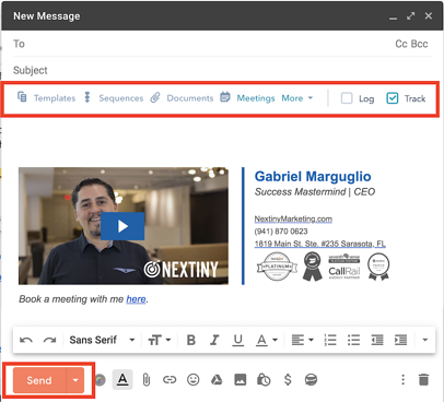 HubSpot CRM email tracking