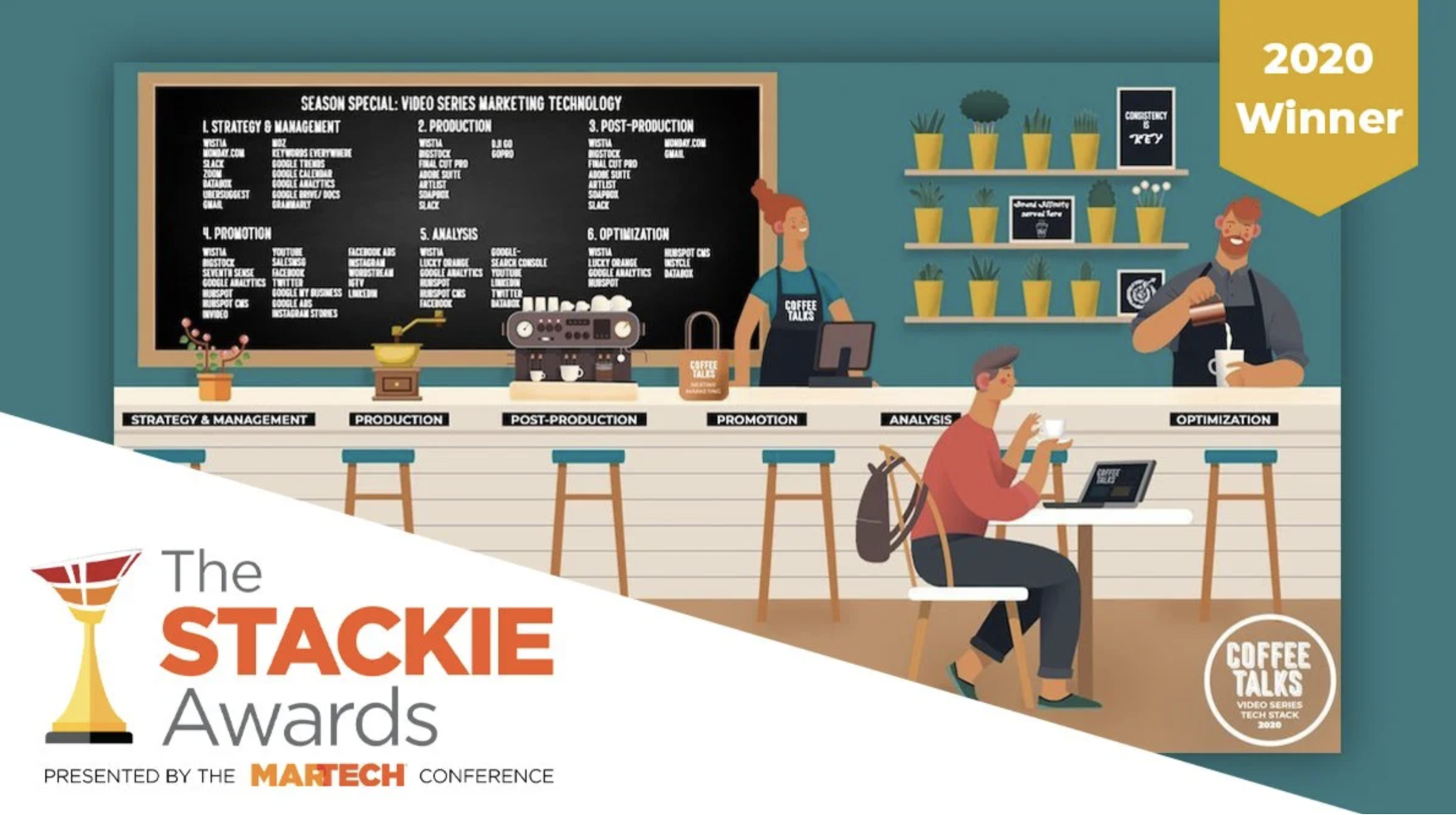 2020 stackie award winner Nextiny marketing video series marketing technology